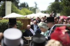 QUEEN IN ROYAL PROCESSION ARRIVES WITH PRINCE ANDREW ON FINAL DAY OF THE 5 DAY MEETING.ASCOT 23-6-18.Photo © George Selwyn +44 (0)7967 030722116 Wellington Parade Kent UK CT14 8AF.
